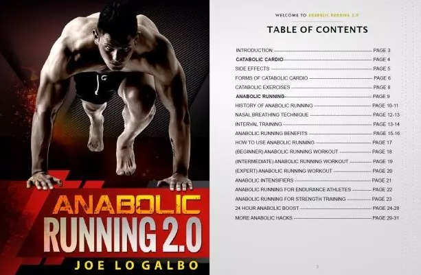 Anabolic Running table of content