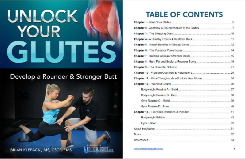 Unlock Your Glutes Table Of Contents