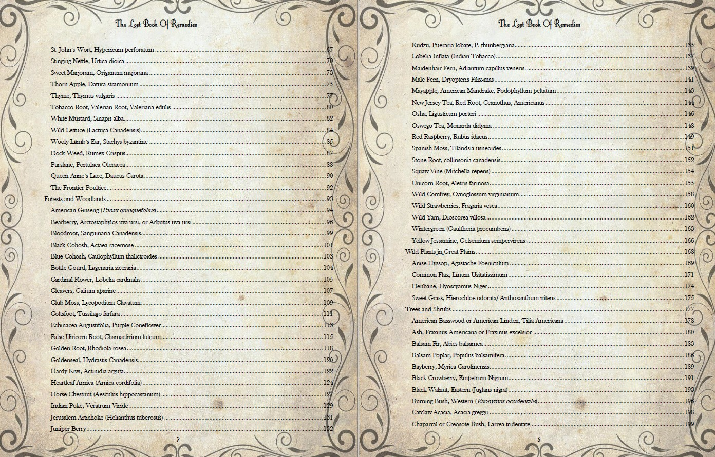 the lost book of remedies table of contents part 2