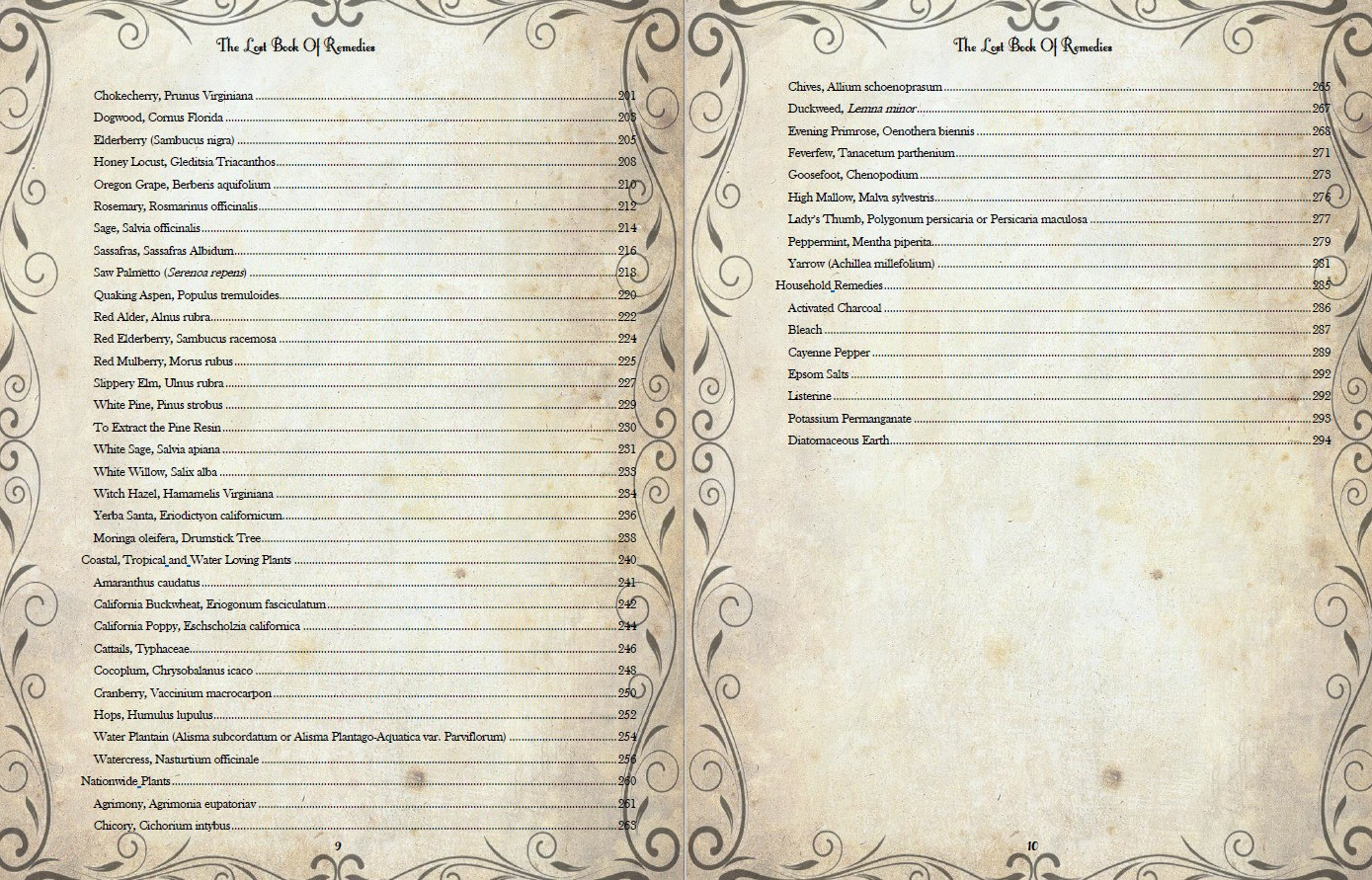 the lost book of remedies table of contents part 3