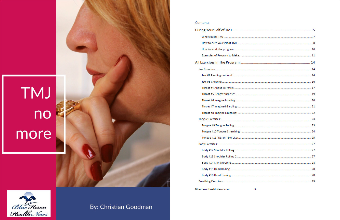 The TMJ Solution Table Of Contents