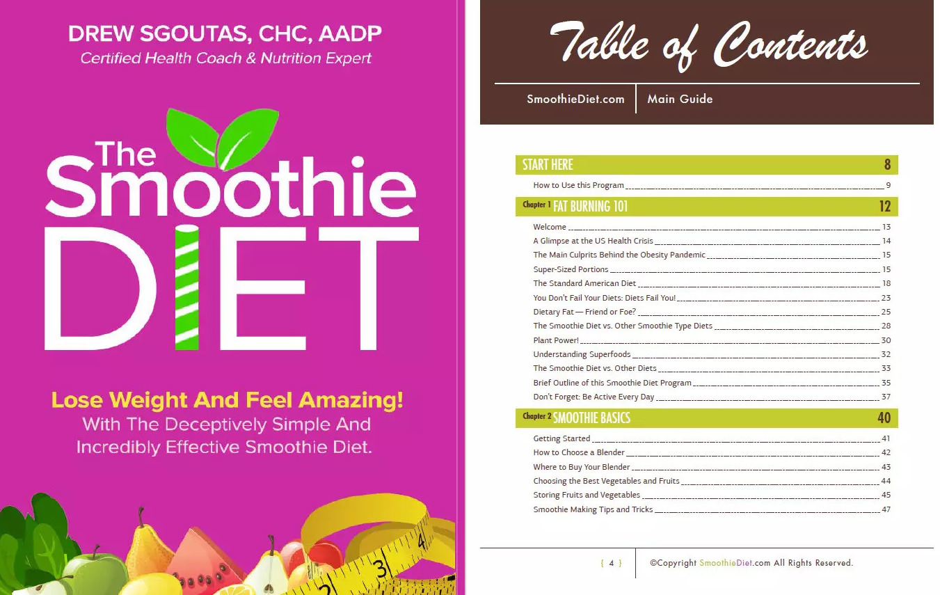 The Smoothie Diet 21-Day Program Table Of contents