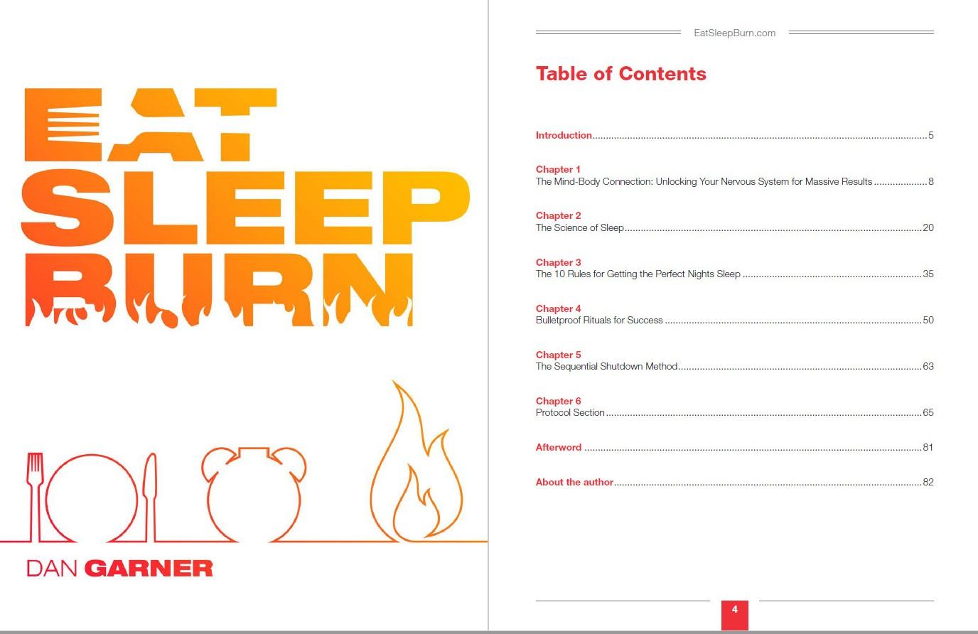 eat sleep burn table of contents