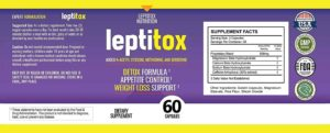 Leptitox Ingredients Label
