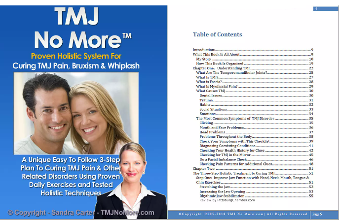 TMJ No More Table Of Contents