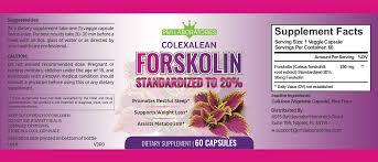 Colexalean Ingredients Label