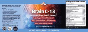 Brain C-13 Ingredients Label