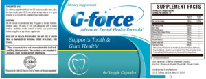 G-Force Ingredients Label