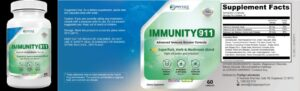 Immunity 911 Ingredients label