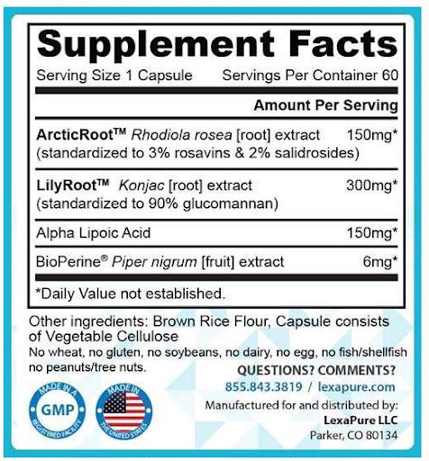 lumaslim Ingredients Label
