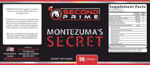 Montezuma's Secret- 18+ Ingredients Label