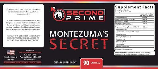 Montezuma's Secret-18+Ingredients Label