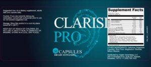 Clarisil Pro Ingredients Label