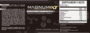 Magnum XT Ingredients Label