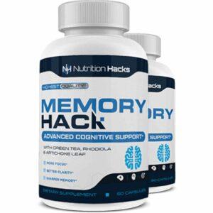 Memory Hack Ingredients Label