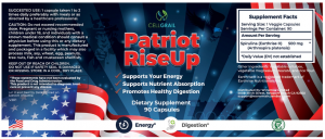 Patriot Rise Up Ingredients Label