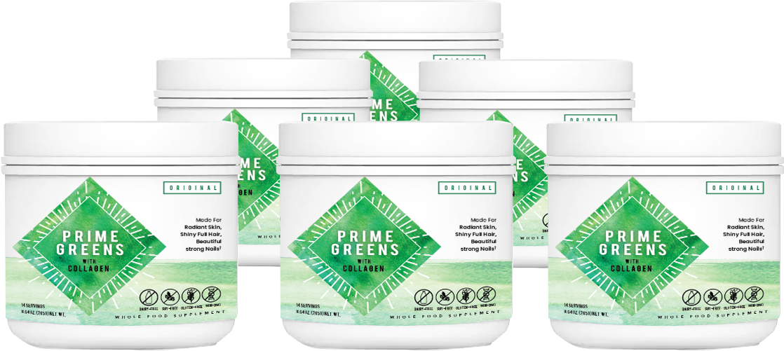 Prime Greens with Collagen Ingredients List Label