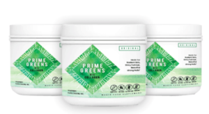 Prime Greens with Collagen Ingredients Label