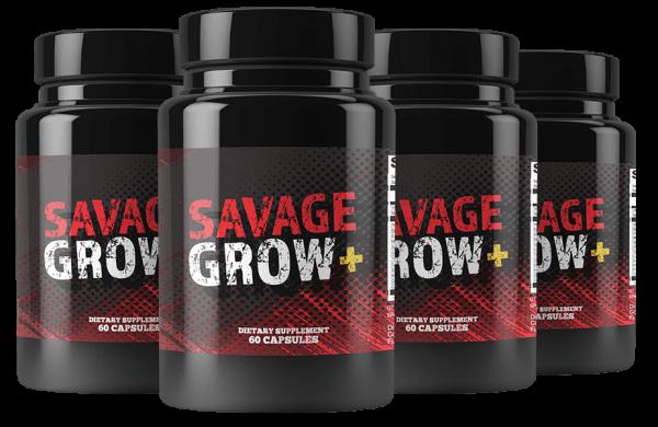 Savage Grow Plus Ingredients Label