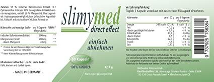 Slimymed Ingredients Label