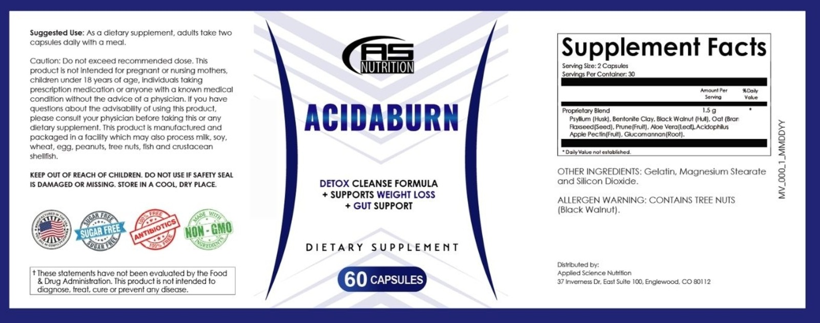 acidaburn ingredients label