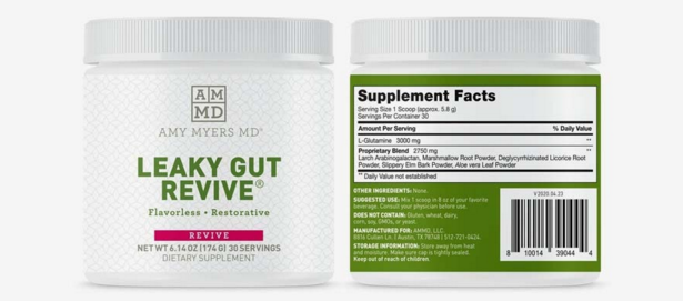 Amy Myers MD Leaky Gut Revive Ingredients Label