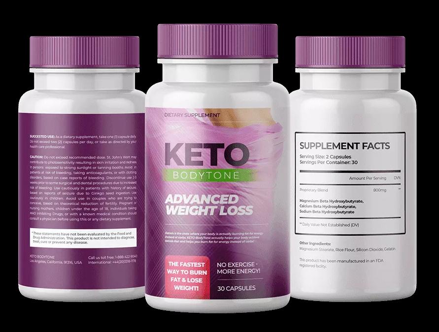 KETO BodyTone Ingredients Label