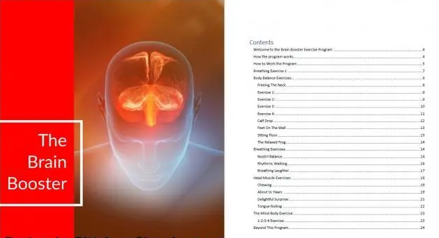 Brain Booster Table Of Contents