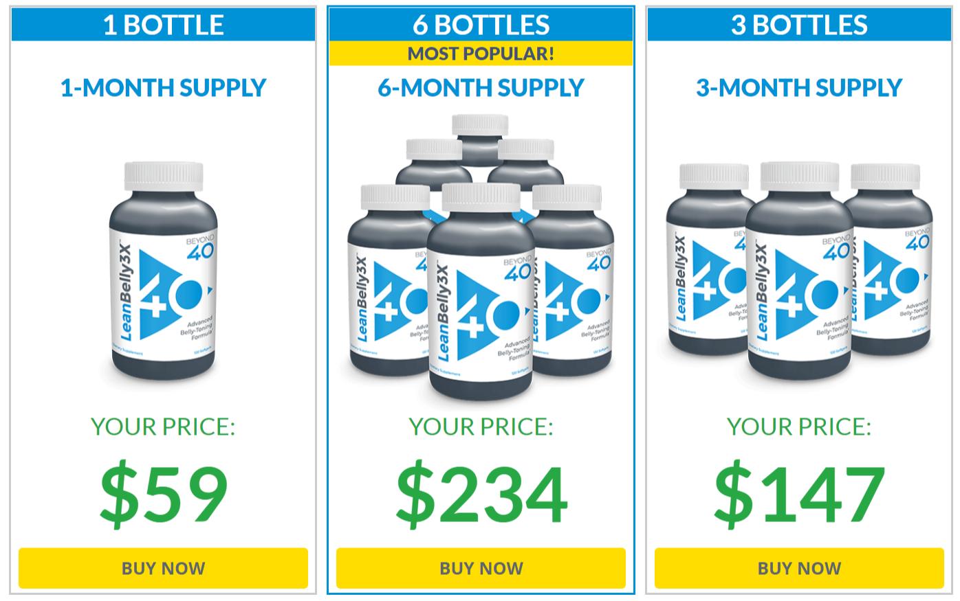 Buy Beyond 40 Lean Belly 3X