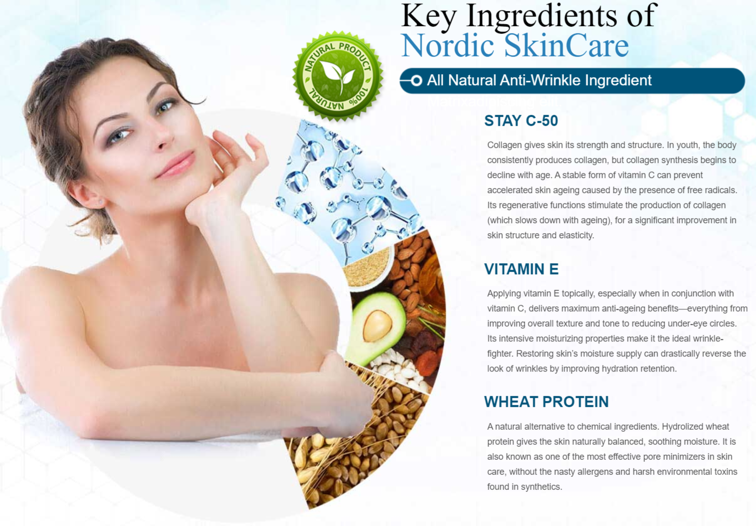 Nordic Skincare Ingredients Label
