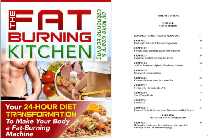 The Fat Burning Kitchen Table Of Contents