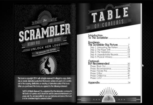 Unlock The Scrambler Table Of Contents
