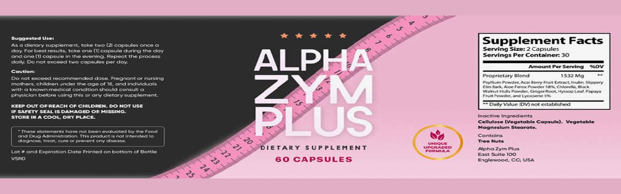 lphaZym Plus Ingredients Label