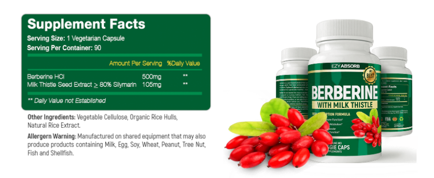 Berberine Ingredients Label