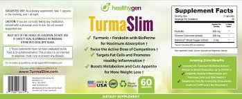 HealthyGen TurmaSlim Ingredients Label