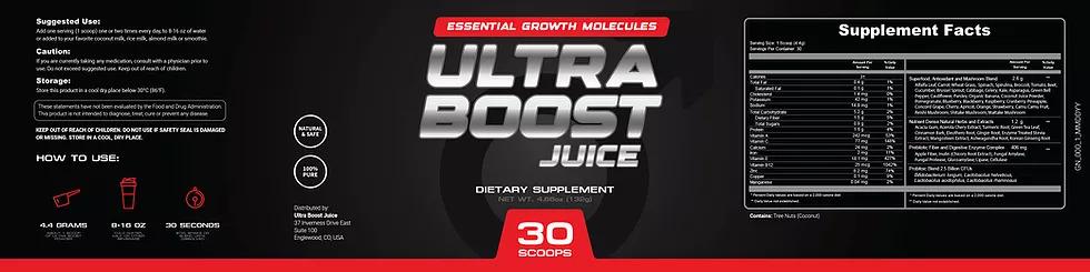 Ultra Boost Juice Ingredients Label