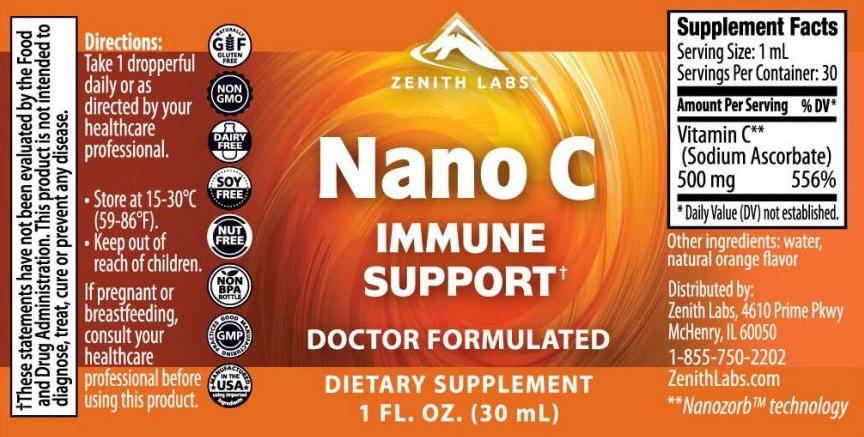 zenith labs nano c ingredients