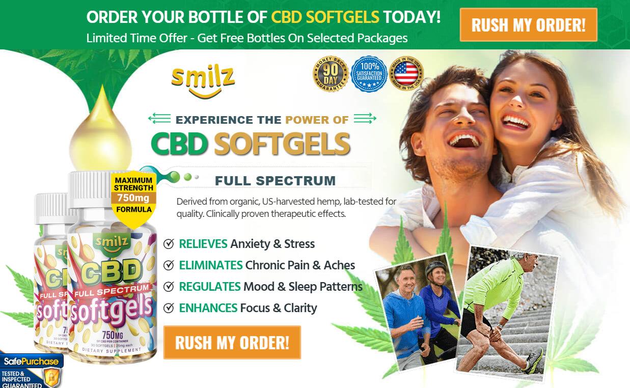 Buy Smilz CBD Full Spectrum Softgels