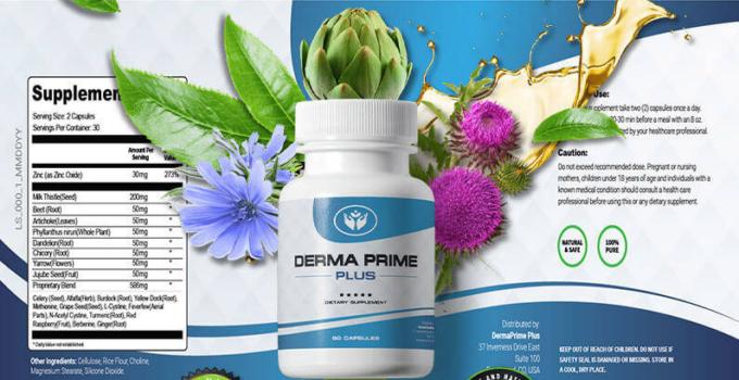 Derma Prime Plus Ingredients Label
