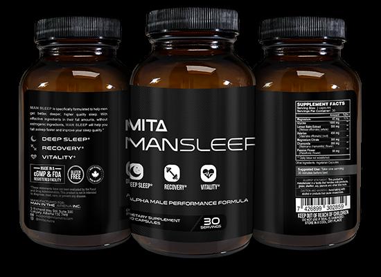 Man Sleep Ingredients Label