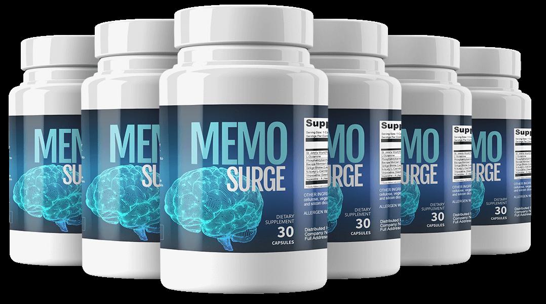 Memo Surge Ingredients Label