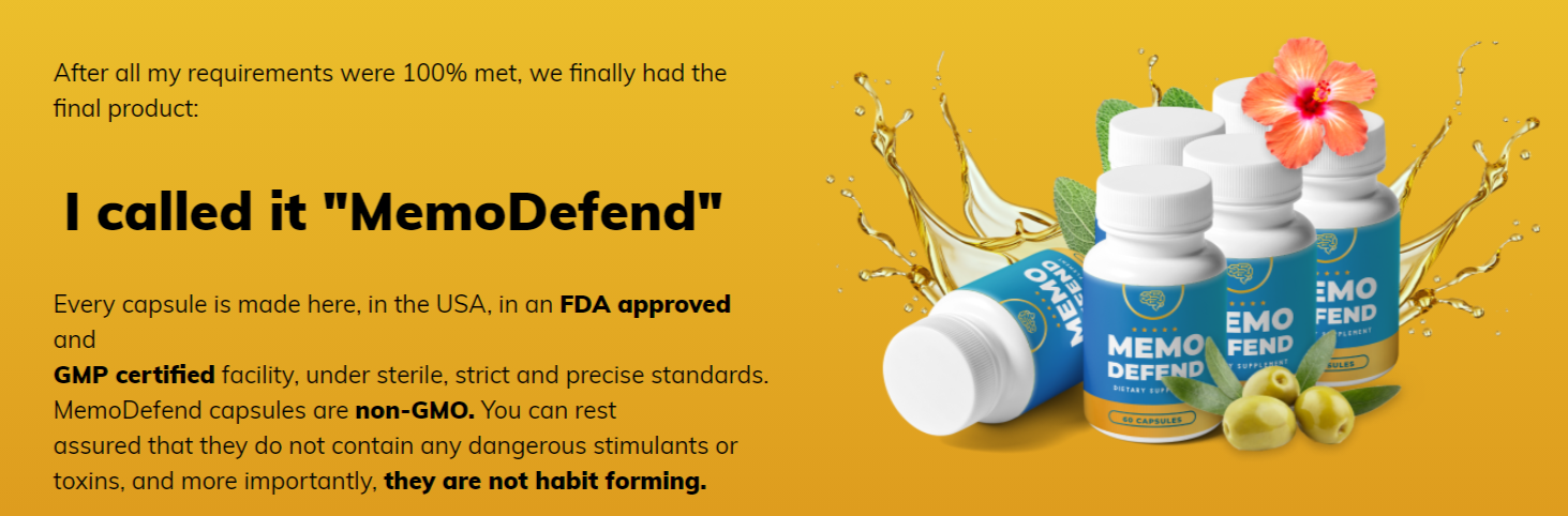 MemoDefend is FDA Approved