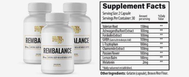RemBalance Ingredients Label