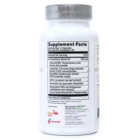 VitaCell Plus Ingredients Label
