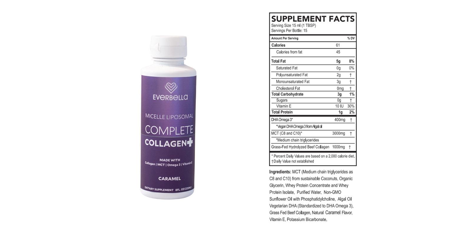 Complete Collagen Plus Ingredients Label