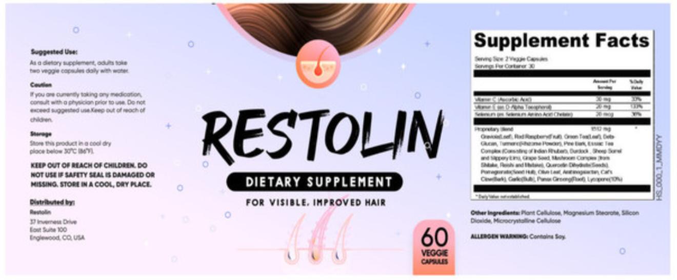 Restolin Ingredients Label