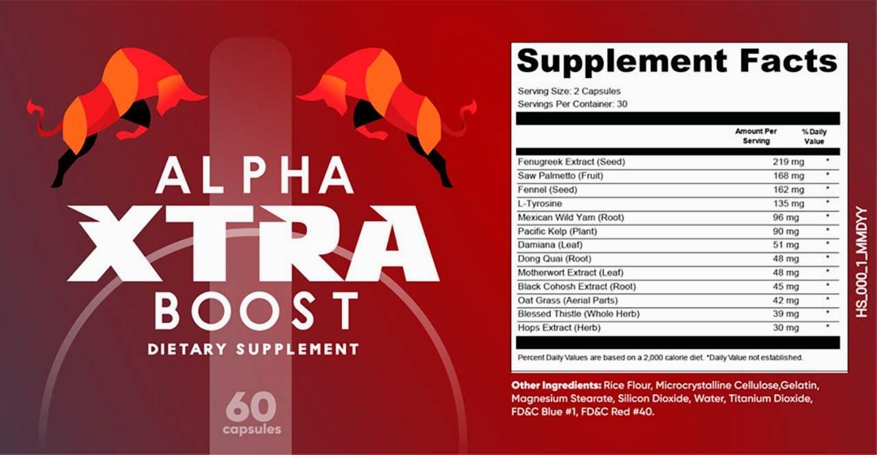 alpha xtra boost ingredients label