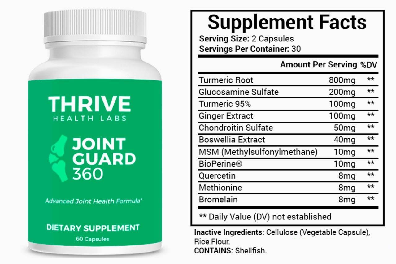 Joint Guard 360 Ingredients Label