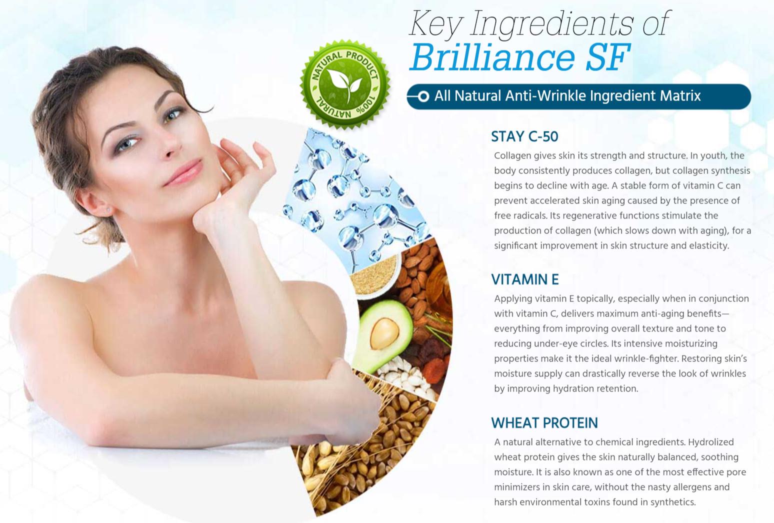 Brilliance SF Ingredients Label