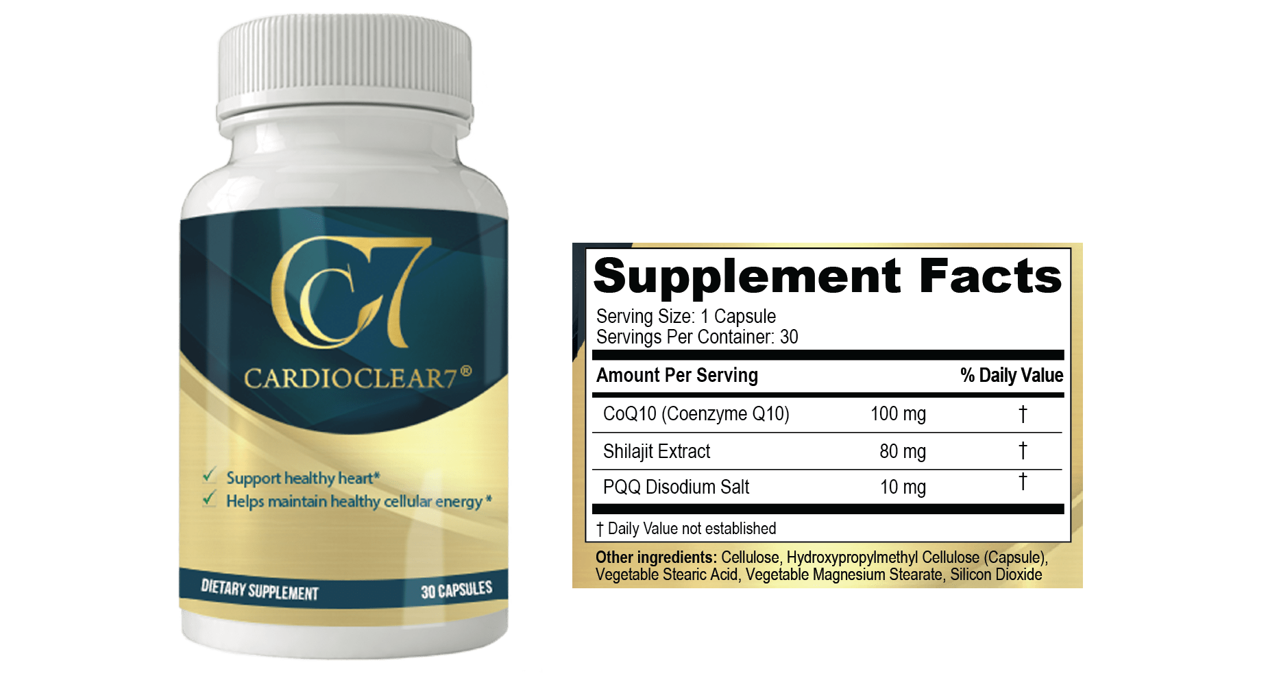 Cardio Clear 7 Ingredients Label